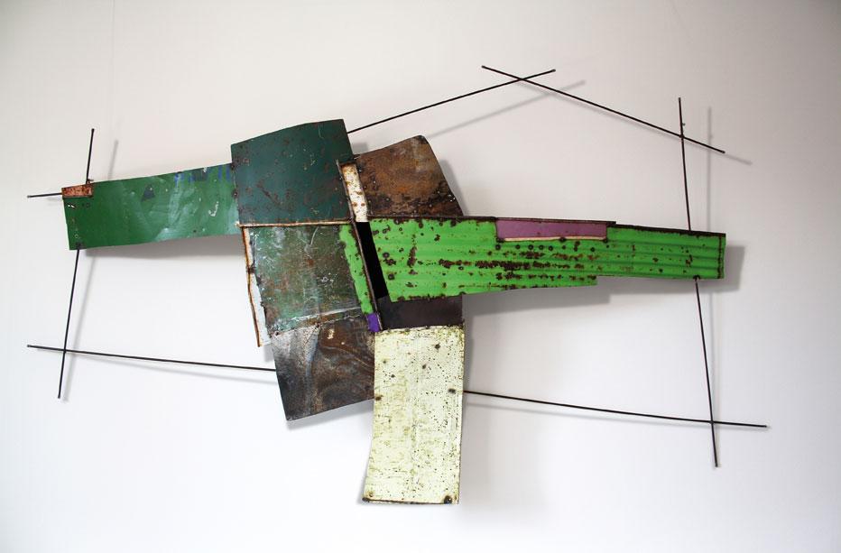 Andrea Cereda, Aree #01, lamiere e tondino di ferro, 2012
