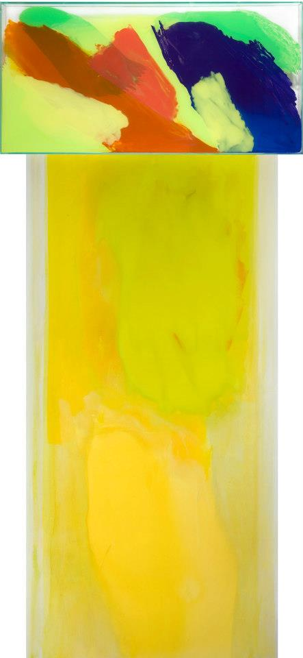 Italo Bressan, Door, olio su tavola e colori su vetro, 260x100 cm, 2008.