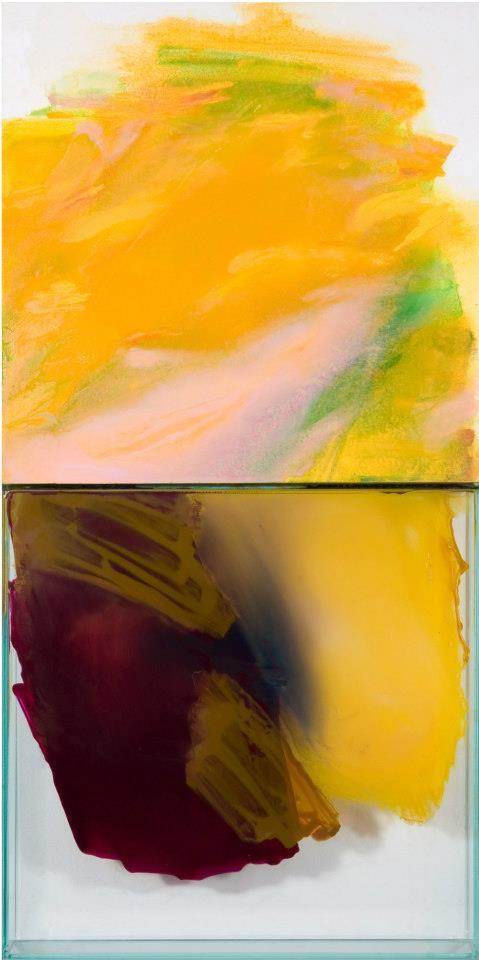 Italo Bressan, Da una Grande lontananza, olio su tavola e colori su vetro, 200x200cm, 2008