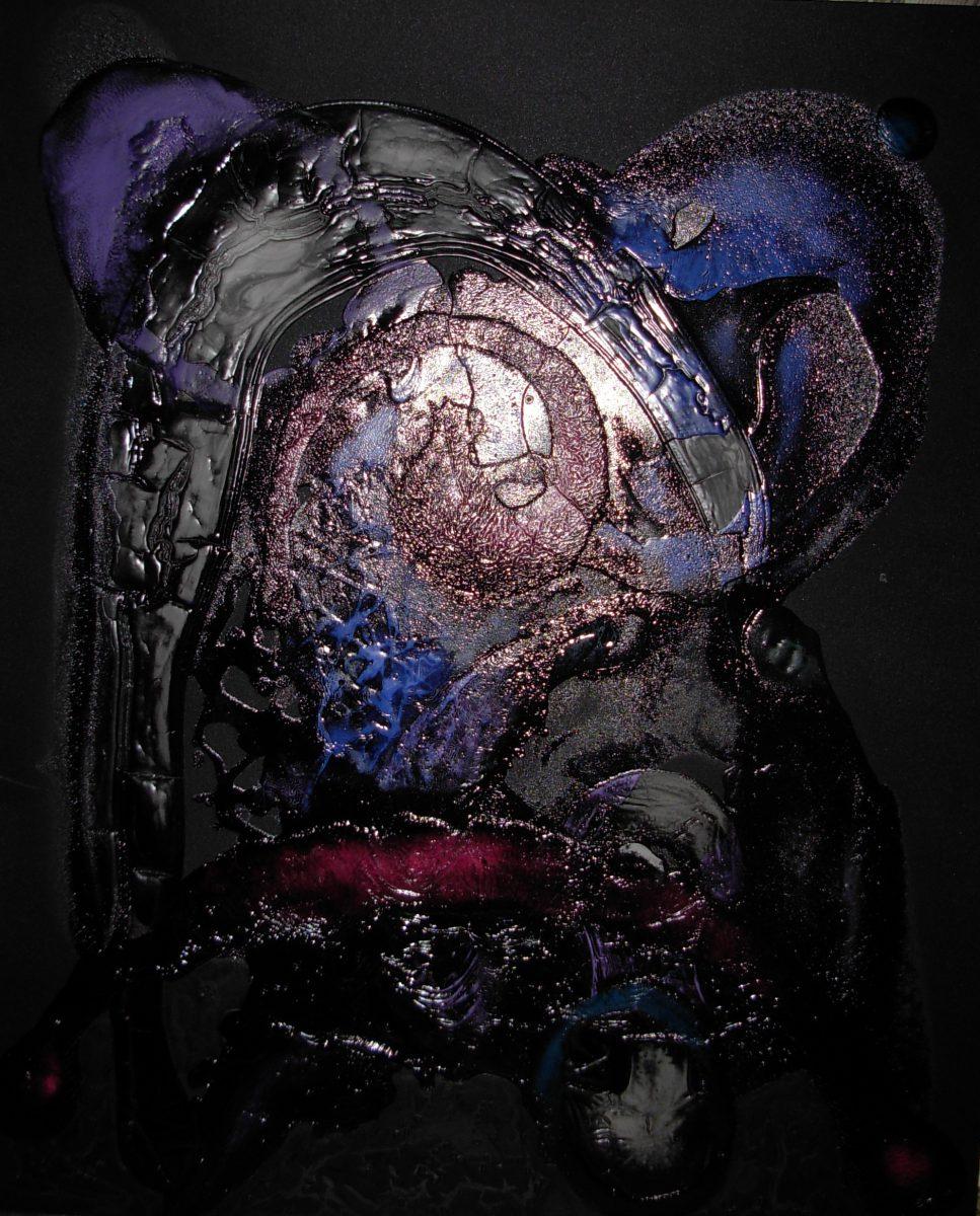 Julio César Soria Justo, senza titolo, tecnica mista su lino plastificato, 110x90cm, s.d.