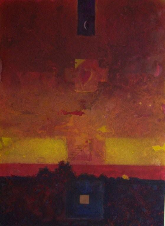 Alessandro Savelli, Caldo Yucatan, tecnica mista su tela, 180x130, 2009