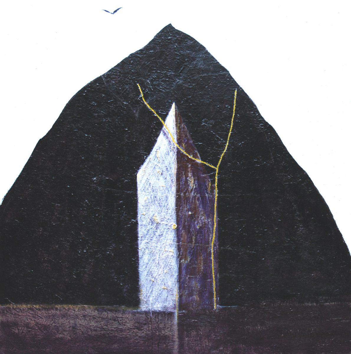 Pierantonio Verga, Una casa per poeti, 2011, tecnica mista su tela cm 130x120