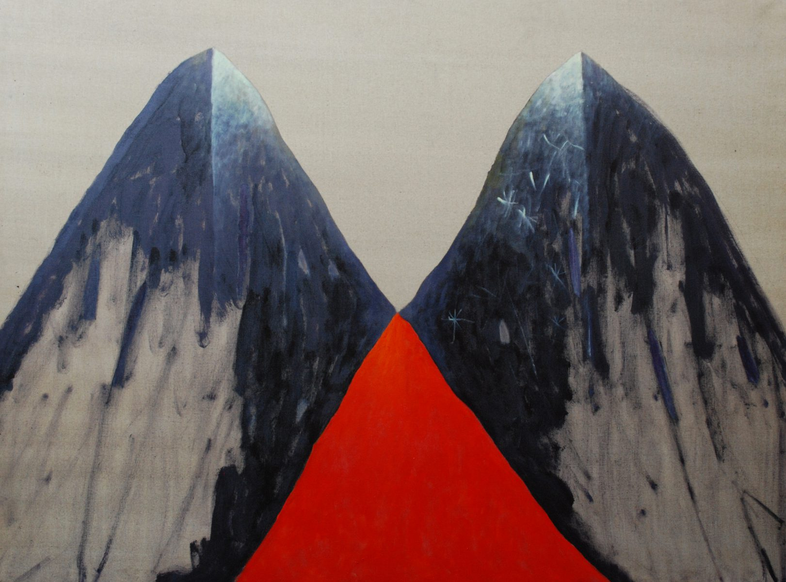 Pierantonio Verga, Solemn, enamel on canvas, 150x200cm, 2011
