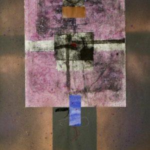 Alessandro Savelli, Mappa del cielo 4, tecnica mista su carta, 100x70, 2011