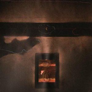 Alessandro Savelli, Cielo nero 3, tecnica mista su carta, 100x70, 2012