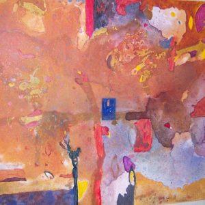 Alessandro Savelli, Cielo d'autunno, tecnica mista su tela, 120x140, 2007.