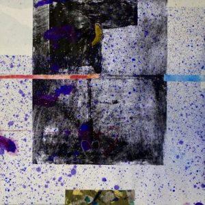 Alessandro Savelli, Mappa del cielo 6b, tecnica mista su carta, 2011